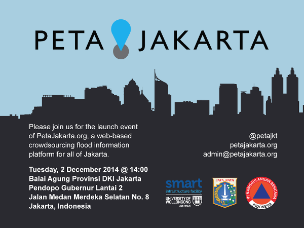 Fig. 14. PetaJakarta.org Launch Event Invitation.
