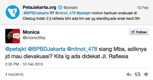 Fig. 32. Sample tweets from users @petajkt and @monictika.